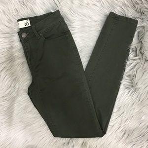 Garage Brand Olive Green Skinny Jeans SZ 5